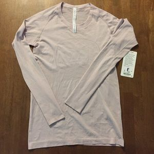 NWT Lululemon Swiftly Tech LS Long Sleeve Pink